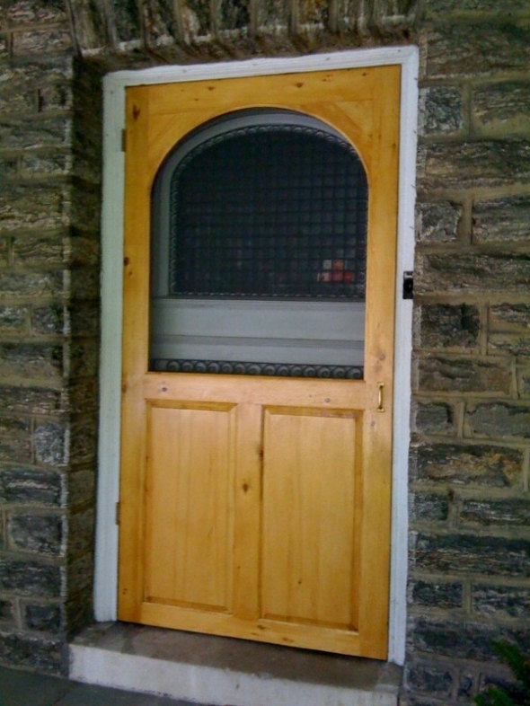 The finished door, installed.